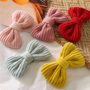 Nuovi colori della caramella della forcella dell'arco Cotone arte neonata sveglia coreana il copricapo della ragazza accessori per capelli annodata BB della forcella della clip