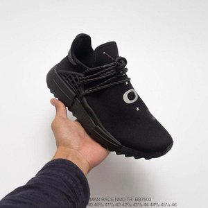 xshfbcl 2020 Wholesale Human Race trail Shoes Men Women Pharrell Williams Yellow noble ink core Black Red white casual Shoes sneakers 36-44