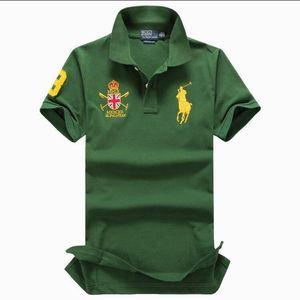 T Shirt manica corta estate degli uomini casuale T-shirt Solid traspirante lusso cotone Tshirt maglie Golf Tennis Uomini Tops ralph lauren