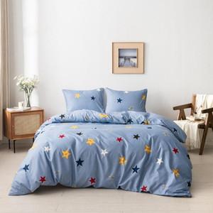 Bonenjoy edredon cobrir Set Estrelas impresso capa do edredon e travesseiro Sham Single / Queen / King Consolador housse de couette Bed