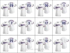 TexasRangers #29 Adrian Beltre 12 Rougned Odor 13 Joey Gallo Men Women Youth Custom White Authentic 2020 Home Jersey