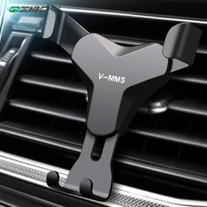 Gravity Reaction Car Mobile Phone Holder Clip Type Vent No Magnetic Mount GPS Car Smartphone Stand