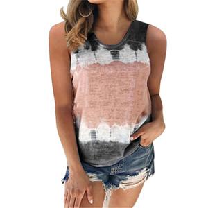 Women's Fashion Summer Loose Round Neck Printed Vest Top