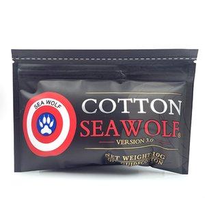 Sea Wolf Organic Bacon Cotton Prime para RDA RBA Atomizador E CIG DIY Calefacción Bobina Vape Vape Cigarrillo electrónico