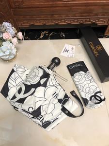 Новое прибытие моды Зонт Зонтик для женщин дизайнер Леди Солнцезащитный зонтик с цветами Птицы печати УФ-защита складной зонтик P049