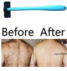 Мужчины Руководства Назад Бритва для удаления волос Пластиковых длинной ручки бритва волос Бритва Evantek тело Уход Kit LXL372