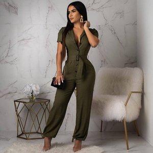 Tulum Bayan Tulum Artı boyutu tulumlar İçin Kadın Yaz Giyim Bayan Tulumlar Uzun Pantolon Şık BODYCON Tek Parça Outfi T200509