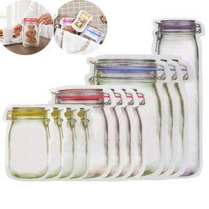 Reusable Mason Jar Zipper Bags Reusable Snack Leakproof Saver Sandwich Storage Bag for Travel Seal Fresh Cookies Bag