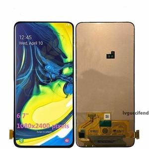 marca original novo para Samsung Galaxy A80 A805 A805F lcd visor de vidro Touch Screen digitalizador quadro livre DHL