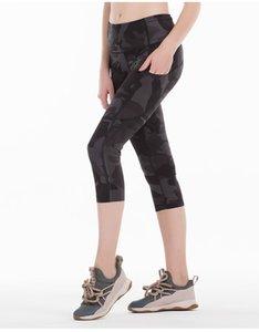 Donne tasca dei pantaloni delle ghette Fitness Yoga calzamaglia a vita alta in corso Capris lavoro in palestra Abbigliamento sportivo Wear