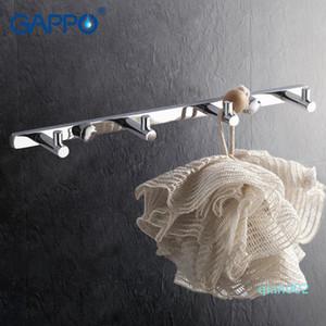Gappo 1 juego de alta calidad 4 ropa del gancho de montaje en pared Ganchos Escudo sombrero torre de colgar titular zircalloy suspensión de la toalla de baño GA202-4 T200717