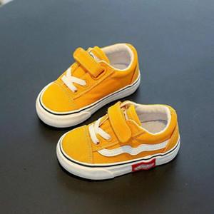 Bebek Ayakkabıları Çocuk Kanvas Ayakkabılar 1-3 Yaşında Yumuşak Soled Erkek Bebek Kız Spor Toddler Casual Çocuklar Sneakers KWSR #
