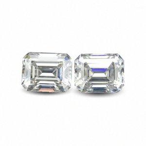 Emerald Cut Retângulo Lab verdadeiro diamante Moissanite pedra colorida D clareza VVS com um certificado para o anel, colar, relógio, etc.1 0kIr #
