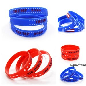 hot Biden Bracelet American 2020 Election Silicone Bracelet USA Flag Band Wristband Trump Bracelet ring party favor 1000pcs T2I51010