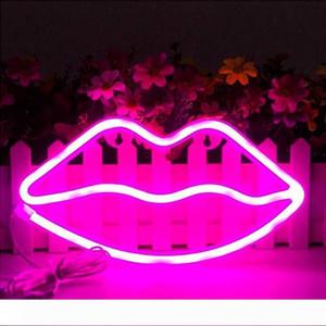 귀여운 네온 파티 용품 조명 소녀의 방 장식 액세서리 테이블 장식 어린이 선물 입술 모양의 바나나 무지개 파인애플 1