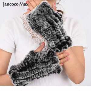 H 2019 Fashion New Arrival Real Fur Gloves Women Natural Fur Mittens Winter Warm Knitted Gloves S7263