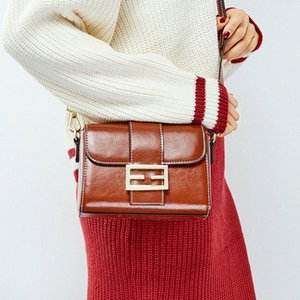 Moda Feminina Crossbody Tote Bags 2020 New Style Leather Messenger Wine Ladies Handbag Red baratos Mulheres Bag real Pictures PREO #