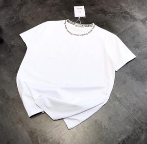estúdios de acne marca Verão New Mulheres Moda camisetas de algodão Chiara Ferragni Sequins acne Estilo ACT1 Camisetas Mulheres estrelas