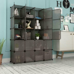 Home Use 20 Cube Organizer Stackable Plastic Cube Storage Shelves Rack