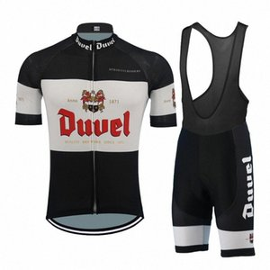 클래식 블랙 저지 설정 Duvel는 로파 자전거 남자 정장 MTB 자전거 의류 숨 빠른 건조 ciclismo 자전거 의류 맥주 L3hV 번호