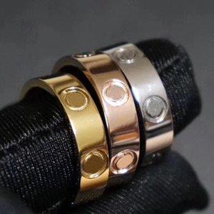 2020 Hot luxo Titanium Rings pregos de aço amantes da banda anéis para mulheres e homens marca de jóias com saco