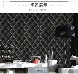 KTV wallpaper 3D three-dimensional personalized Plaid living room, bar, ballroom, theme room, waterproof PVC wallpaper