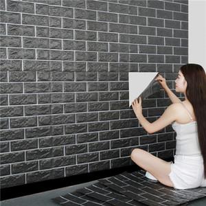 3D Brick Wall Stickers de haute qualité imperméable XPE mousse pour Salon Chambre bricolage autocollantesNous Papier peint Art maison décorations