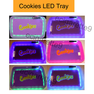 Cookies Kalifornien PARTY MODE Glowtray LED Cookies Rollen Glow Tray Gelb Lila Runtz Verpackung Papier Box Rollen 420 Cookies glow Tablett