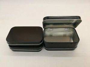 캔 NiAA 번호에서 온라인 새로운 도착 블랙 경첩 주석 상자 사각형 선물 상자 씰링 일반 주석 95x60x21mm 온라인 포장지 주문 선물 가방