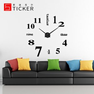 Popular Creative Nordic Simple Watch Sun Movement Acrylic Diy3d Living Room Bedroom Wall Stickers Wall Clock