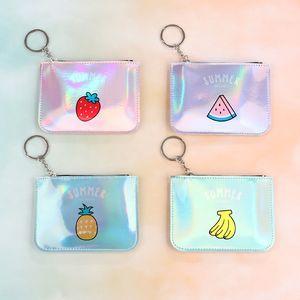 Korean magic color laser card bag Fruit Card wallet fruit key bag women's wallet creative fashion fashion person coin purse