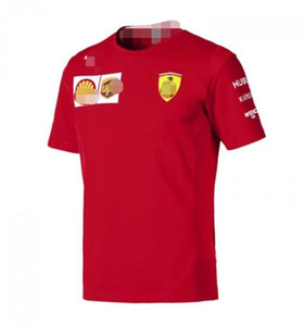 2019 Explosion F1 Formula One racing short-sleeved T-shirt team suit racing suit round neck casual Tee polyester quick-drying