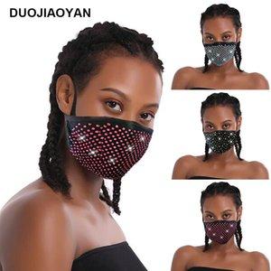 Vendita calda antipolvere colori moda il flash diamante strass cotone con Diamante Mask Maschera moda decorativa delle donne