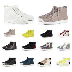 2020 Yüksek Üst Günlük Ayakkabılar Kırmızı Alt Stilist Ayakkabı Çivili Deri parti çift Düz Sneakers Dikenler ACE Erkekler ve Kadınlar Moda Ayakkabılar
