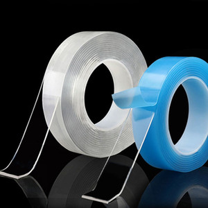 Transparent nano-tape Washable Reusable Double-Sided Adhesive Traceless Sticker Removable Disks Glue