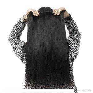 8A Brazilian Virgin Human Hair Weaves Soft Unprocessed Peruvian Straight Hair Weft Cheap Remy Forawme Hair #1B 8-30inch