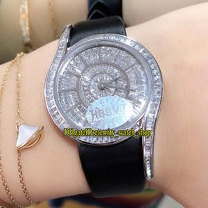 최고 에디션 보석 시계 시리즈 GALA G0A38168 T 다이아몬드 스위스 석영 운동 여성 시계 아이스 아웃 Gypsophila 38169 레이디 시계 다이얼 인레이