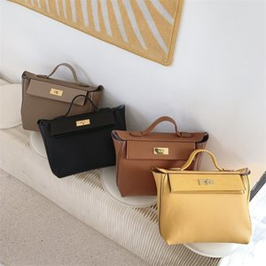 Genuine Leather Single Shoulder Ladies Hand Bags Woman Luxury Handbags Women Bags Designer Solid Color Handbag Bolsos Mujer