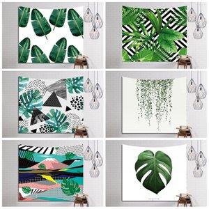 Verde Plantas Padrão Yoga Mat Durable Retângulo 3D Digital Impresso Toalha de Praia Poliéster Fiber parede tapeçaria moderna 16ls B