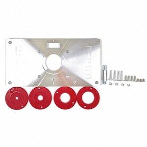 Multifuncional de aleación de aluminio Router Tabla Inserte la placa de la carpintería de madera Bancos Router Trimmer Modelos máquina de grabado pkiA #