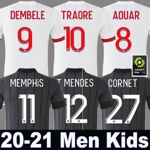 20 21 ليون لكرة القدم جيرسي ديمبيلي 2020 2021 أولمبيك ليون T.MENDES الأعور تراوري الرجال + الاطفال عدة مجموعة ليون مايوه دي القدم OL TOUSART