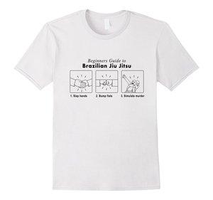 ANFÄNGER BJJ T-Shirt Lustiges Guide To Bjj für Mann Hipster O-Ansatz Causal kühle Spitzen O-Ansatz Oberseiten-T-Stück Shirts