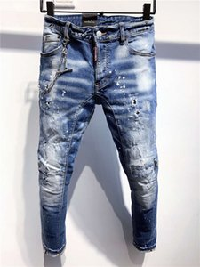 SS20 New Arrival Top Quality Brand Designer Men Denim Cool Guy Jeans Embroidery Pants Fashion Holes Trousers Italy Size 44-54 A361