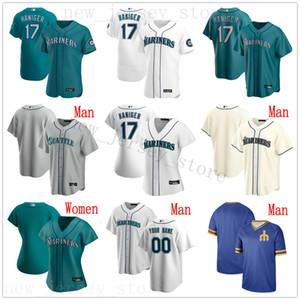 Пользовательские 2020 Бейсбол 15 Кайл Сигер 9 Ди Гордон 20 Daniel Vogelbach 17 Митч Haniger Mallex Смит Эдгар Мартинес Джерси Человек Женщины Дети