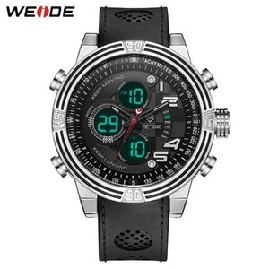 WEIDE Men Sports numeral Back Light Digital Analog Black Quartz Black Buckle Date Sport Wrist Watch Military Relogio Masculino
