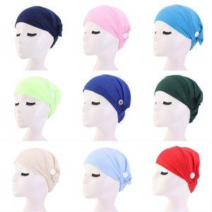 expédition filles Face Mask bouton Hairband large Turban Lady Yoga Sport Bandeau Twisted Head Wrap Adulte Femmes Bande élastique cheveux