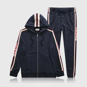 2020 New Tracksuit Jacket Suit Fashion Running Men Sports Suit Letter Print Slim Long Sleeve Tracksuit Suit Medusa Sportswear
