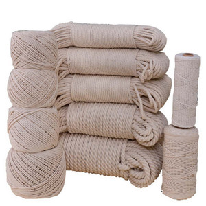 Macrame Rope Twisted String Cotton Cord Handmade DIY Handwork Braided yarn Natural Beige Rope Home Wedding Clothing Accessories Drawstring