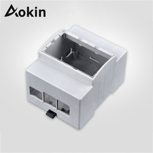 Demo Board Accessories Aokin Raspberry Pi 4 ABS White Case Protective Case Enclosure for Raspberry 3B+ 3 Model B RPI 4
