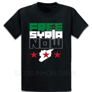País shirt Syria livre agora camiseta shirt Loose manga curta Personalizar Outfit Unisex Primavera Outono engraçado Rodada